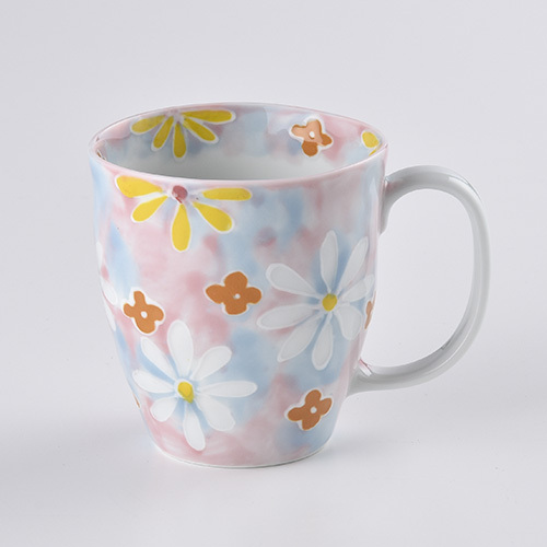 フラワーガーデン マグカップ(ピンク)