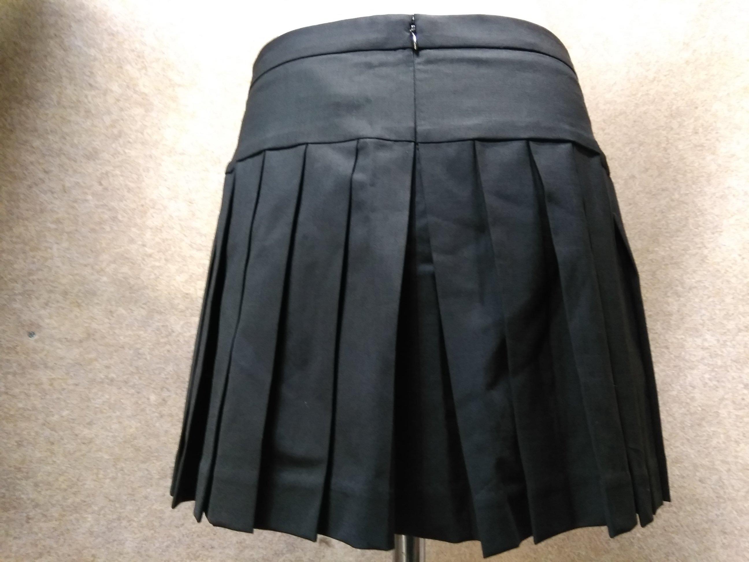 Theory セオリー プリーツ スカート サイズ0 黒 mu151