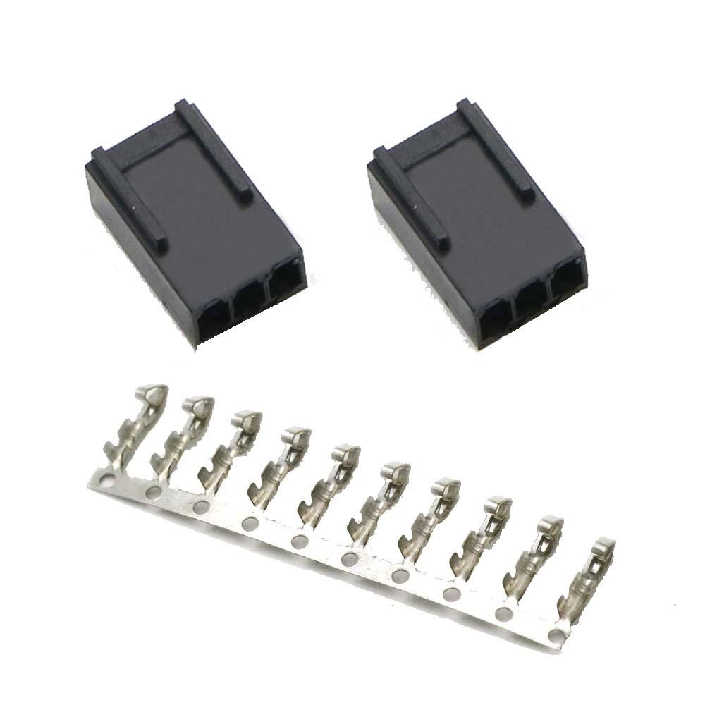 ATX規格 FANコネクタ 3Pin メス ハウジングx2 圧着ピン10pin セット