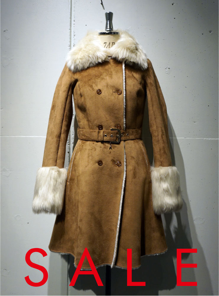 PATRIZIA PEPE ECO FUR SHEEPSKIN COAT キャメル