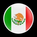ゴーバッジ(ドーム)(CD0196 - FLAG MEXICO 01) - 画像1