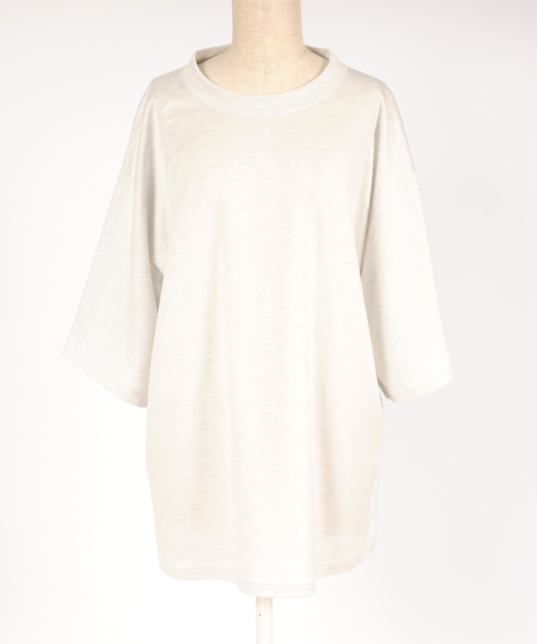 hs18SM-IR05 TENCEL DROP SHOULDER TEE
