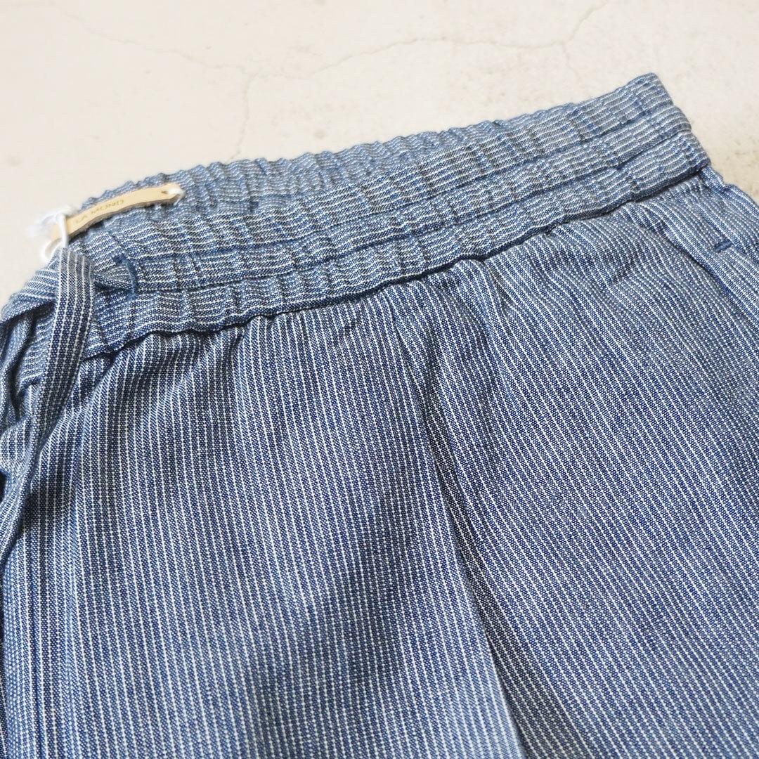 LA MOND ラモンド STRIPE FRENCH EASY PANTS ストライプフレンチイージーパンツ ユニセックス 【返品交換不可】 (品番lm-p-021)