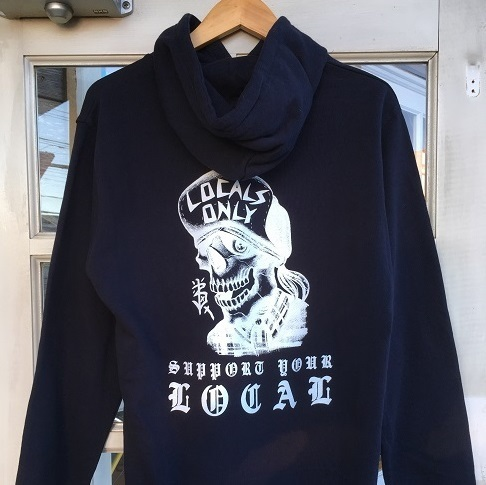 LOCALS ONLY SKULL HOODIE