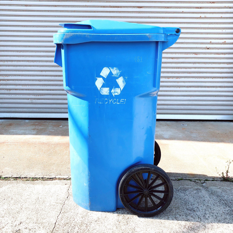 品番0048 ゴミ箱 キャスターペール ブルー ダストボックス インテリア ディスプレイ ヴィンテージ