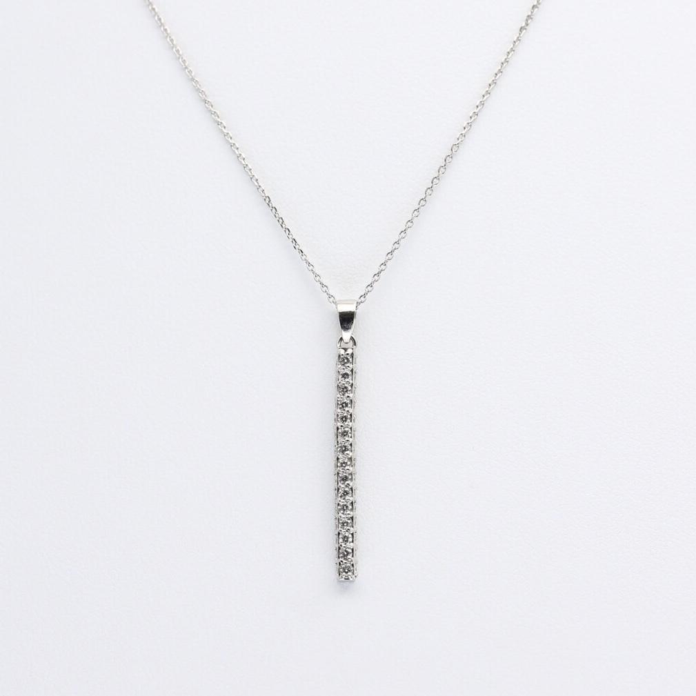 PT900/850 0.5ct ダイヤモンドネックレス