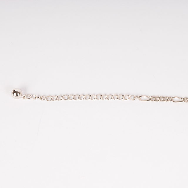 df19SM-J21 LINE BEADS NECKLACE (silver)