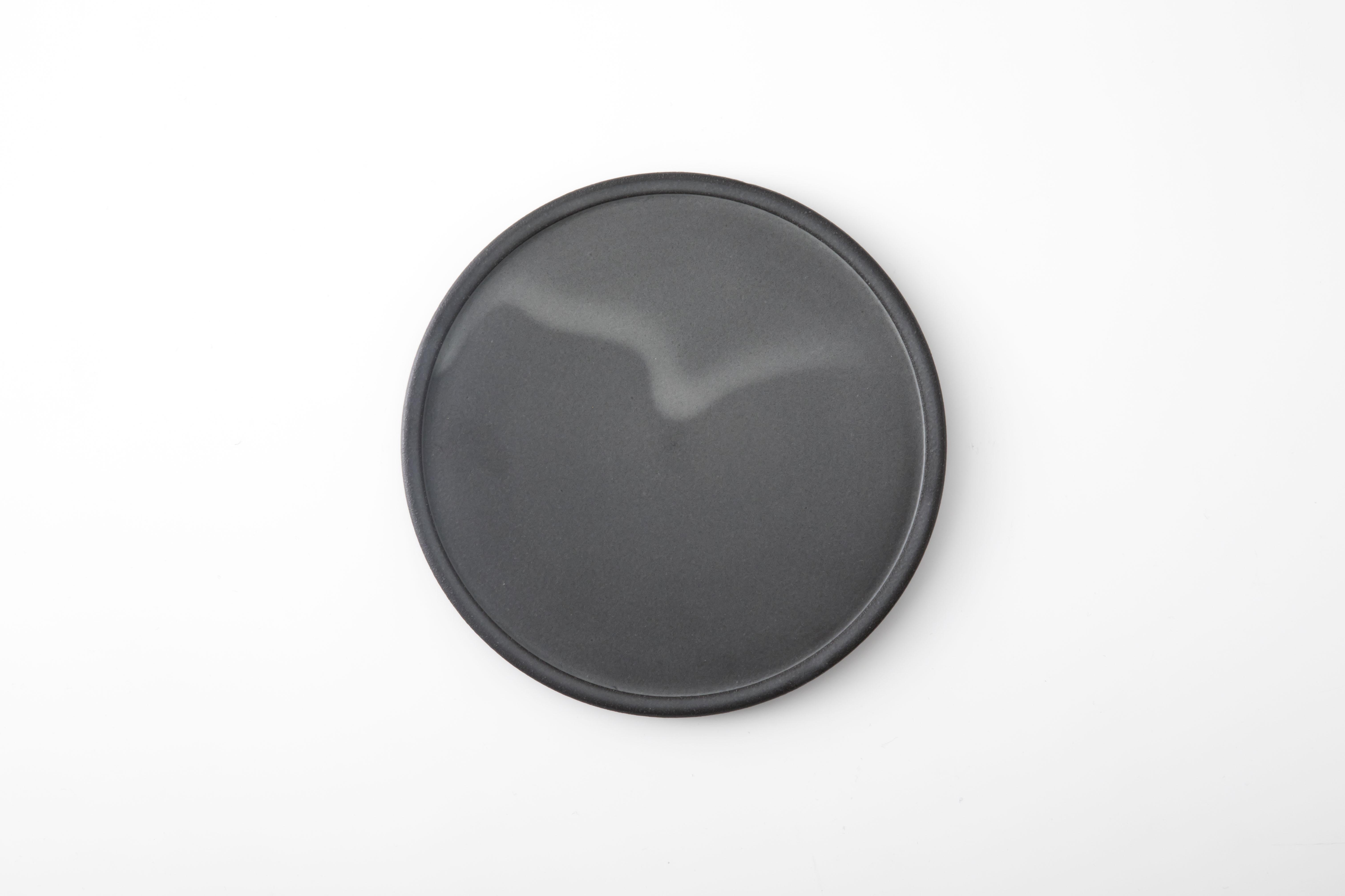 黒泥皿 : 6寸 / 3RD CERAMICS