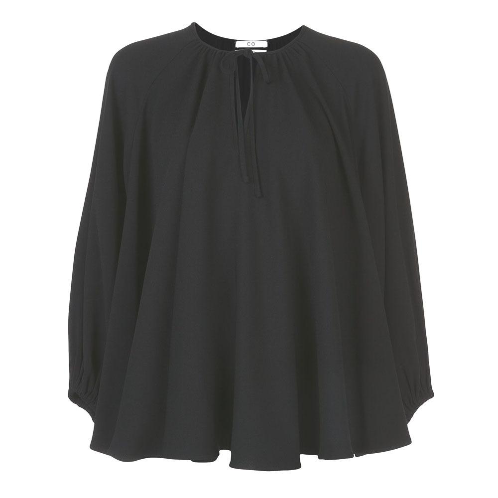 CO    PEASAINT BLOUSE   BLACK