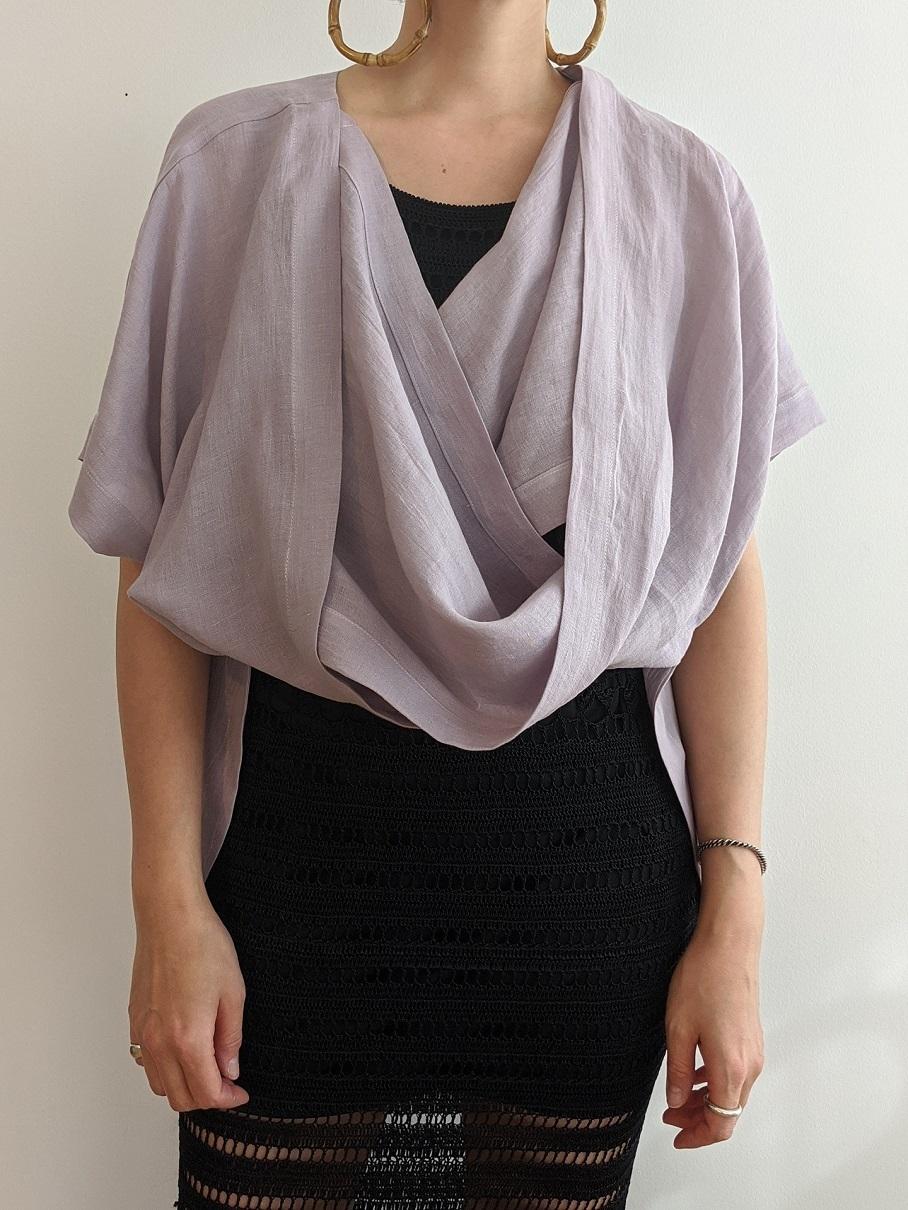 French Linen Robe - Lavender