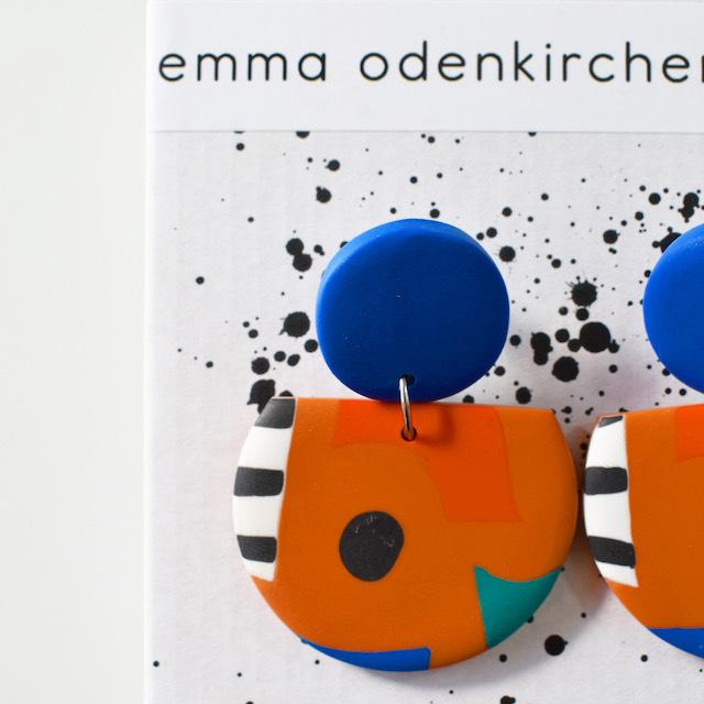 "Studio Emma Odenkirchen ""COCO COLLAGE EARRINGS RUSTY"" ピアス"