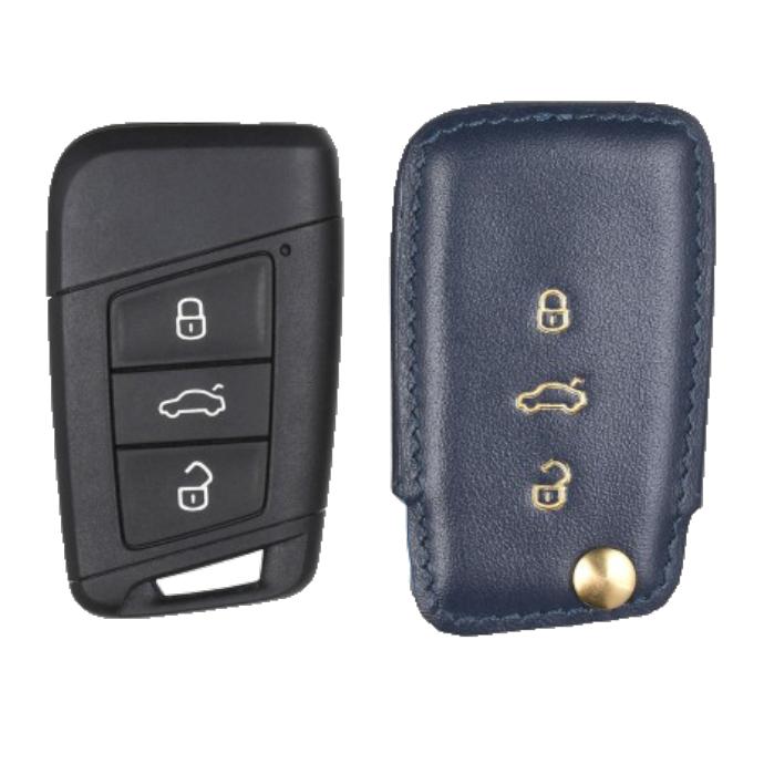 Volkswagen 専用 TypeC Car Key Case Shrink Leather Case