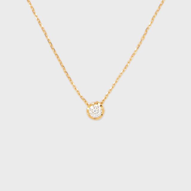 ENUOVE NOTTE Diamond Necklace K18YG(イノーヴェ ノッテ 0.1ct ダイヤモンドネックレス K18イエローゴールド スライドアジャスターチェーン)