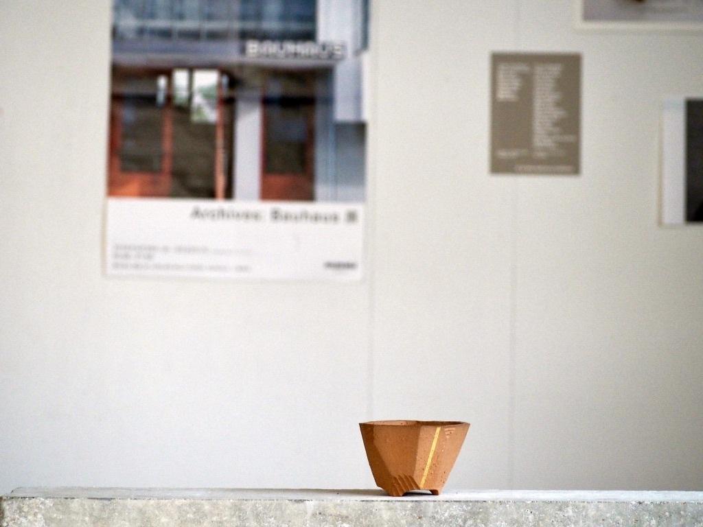 澪標  /  XS / Bonsai Pot [ パーシモン+金ライン ] No,0207