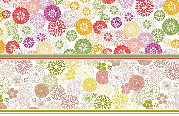 【割引】菊&シャクヤク 2点セット A3サイズ(ポーセリンアート用 和柄転写紙)