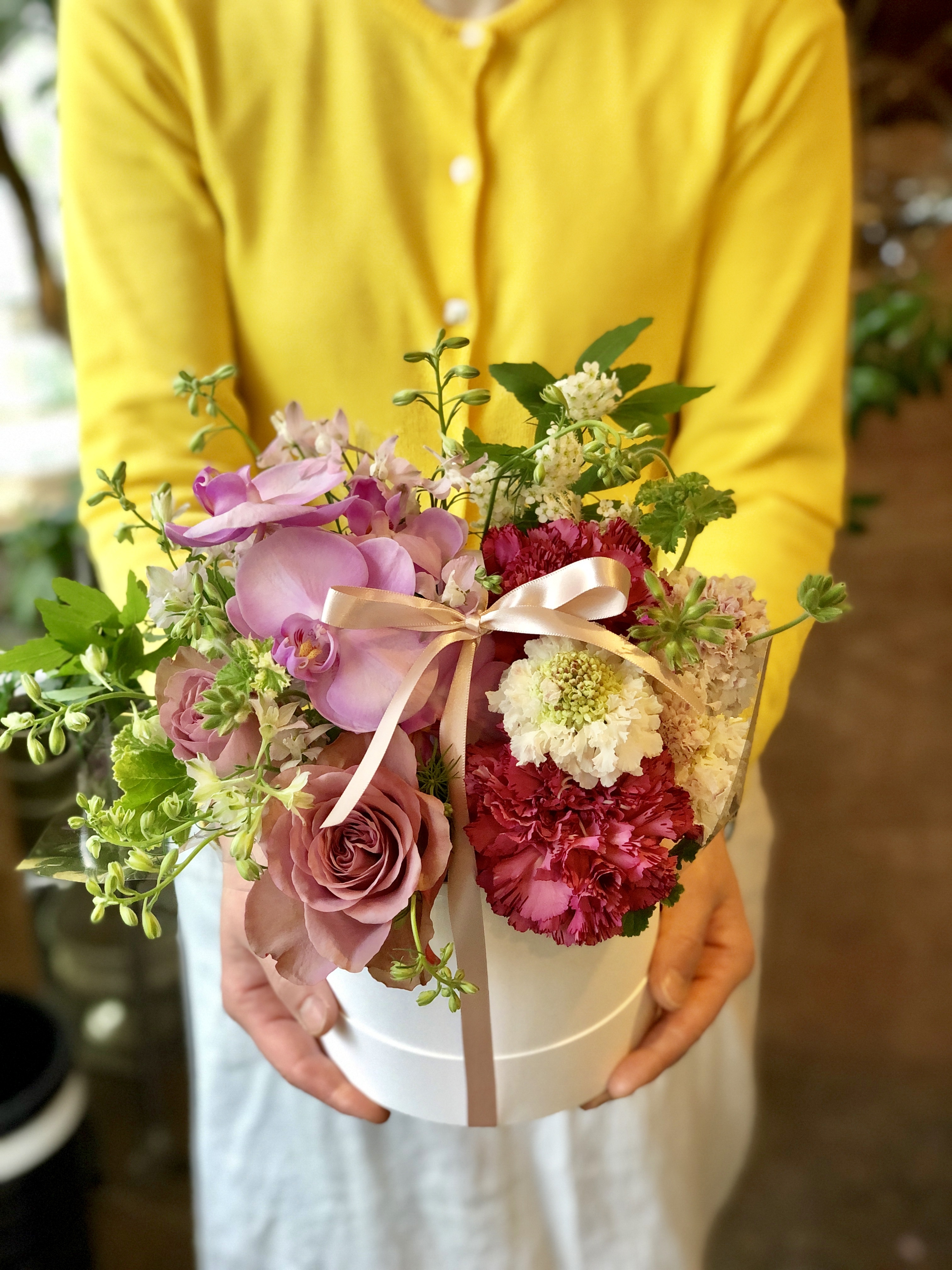 母の日ボックスアレンジ(pink)