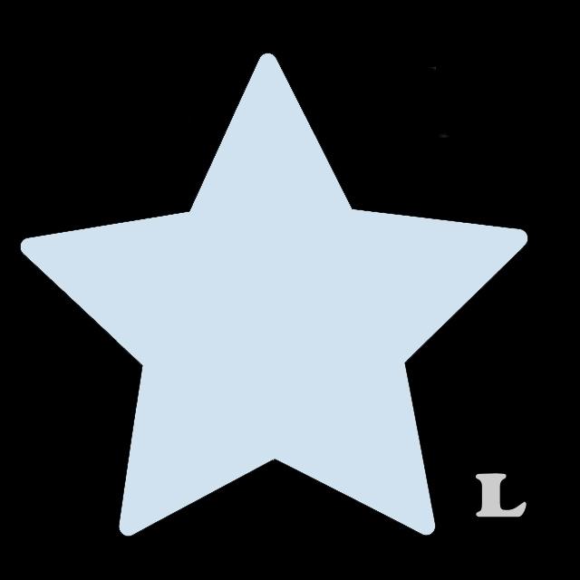 星型(L)★ライトブルー