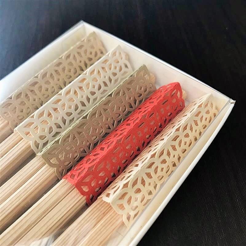 お箸飾り5個セット・利休箸付き 透かし(お祝い)