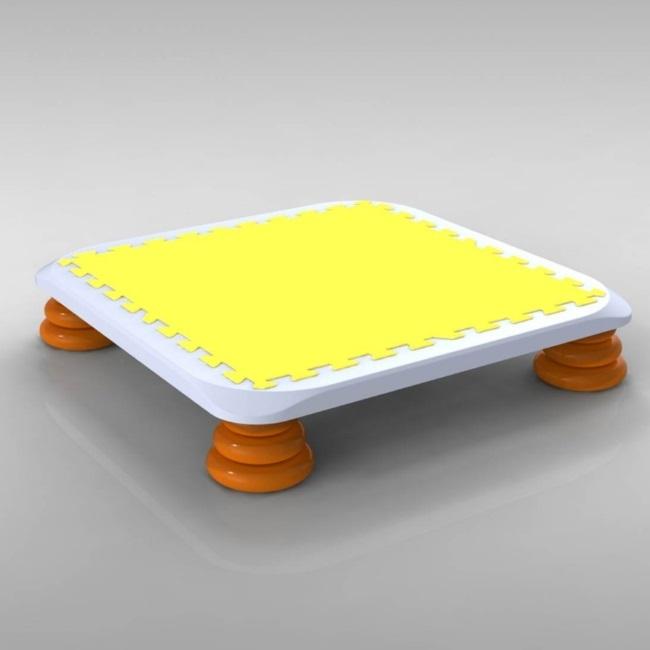 バンバンボード(黄色)一般用スプリング 安全 で 音が響きにくい 人気 の 室内・家庭用 の おすすめトランポリン Yellow プレゼント