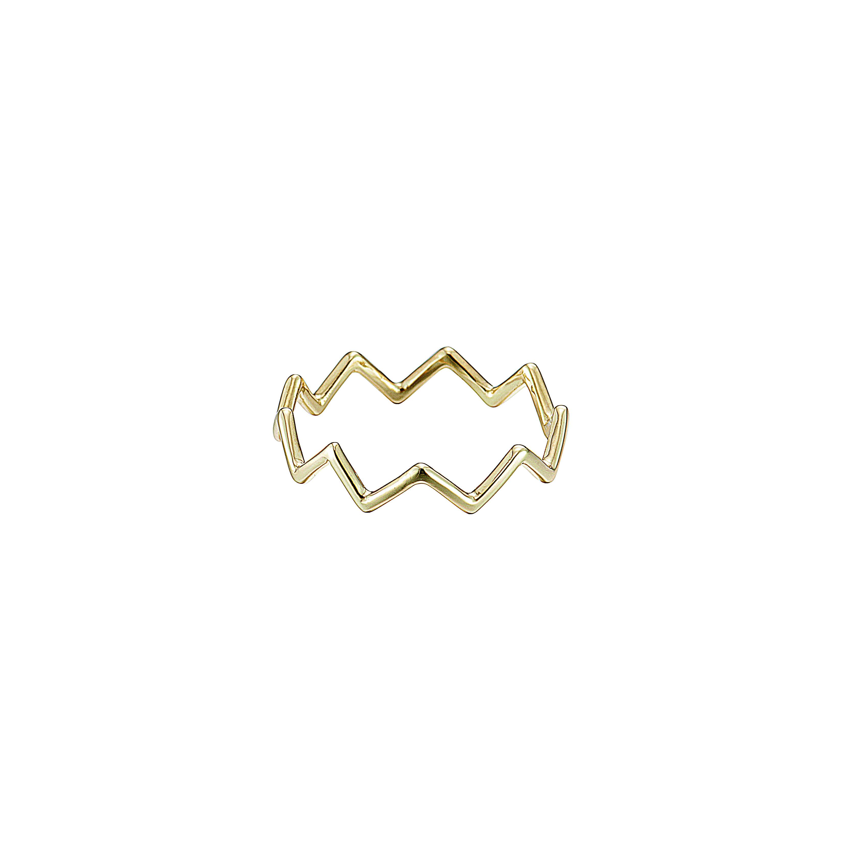 K18YG Zig-Zag Ring (#5〜#16)