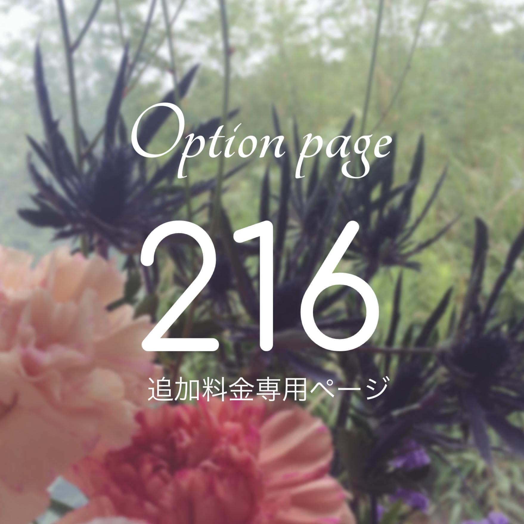 「216円」追加料金用専用ページ