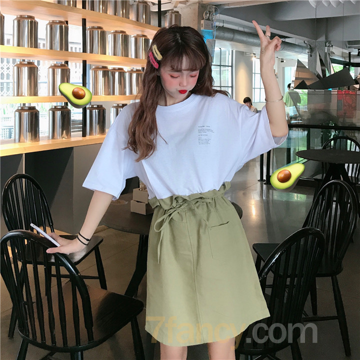 【dress】カジュアル切り替えフェイクレイヤード カジュアルワンピース22711368