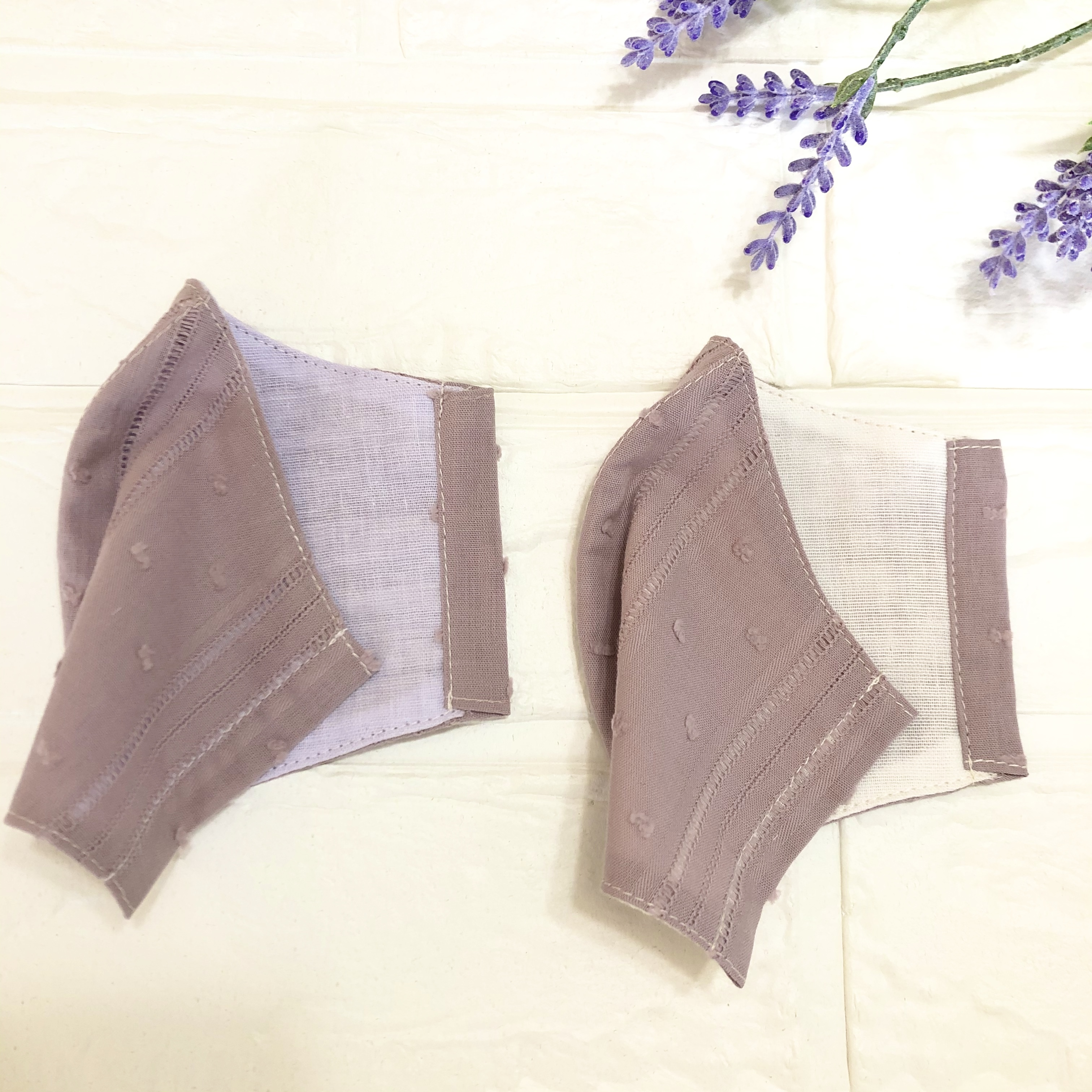 Mサイズレース生地薄紫