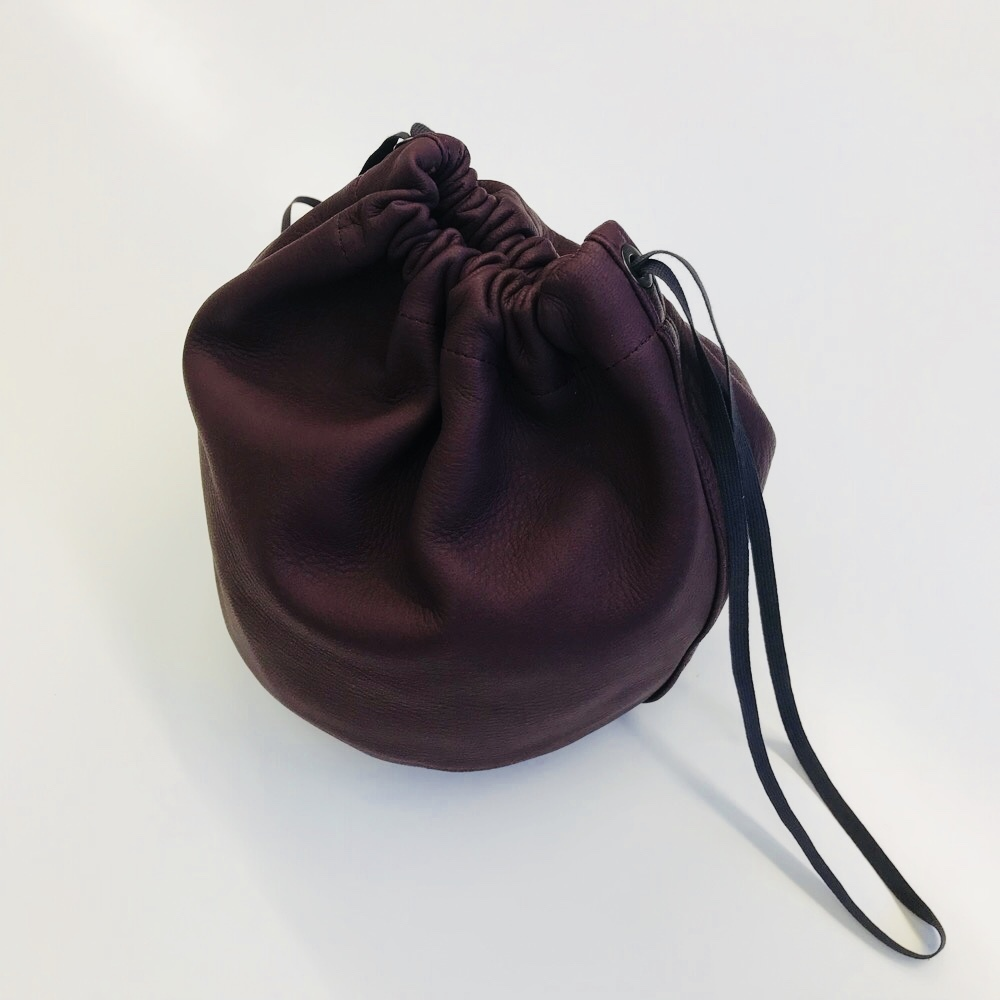 FILL THE BILL MILITARY LEATHER PURSE BROWN