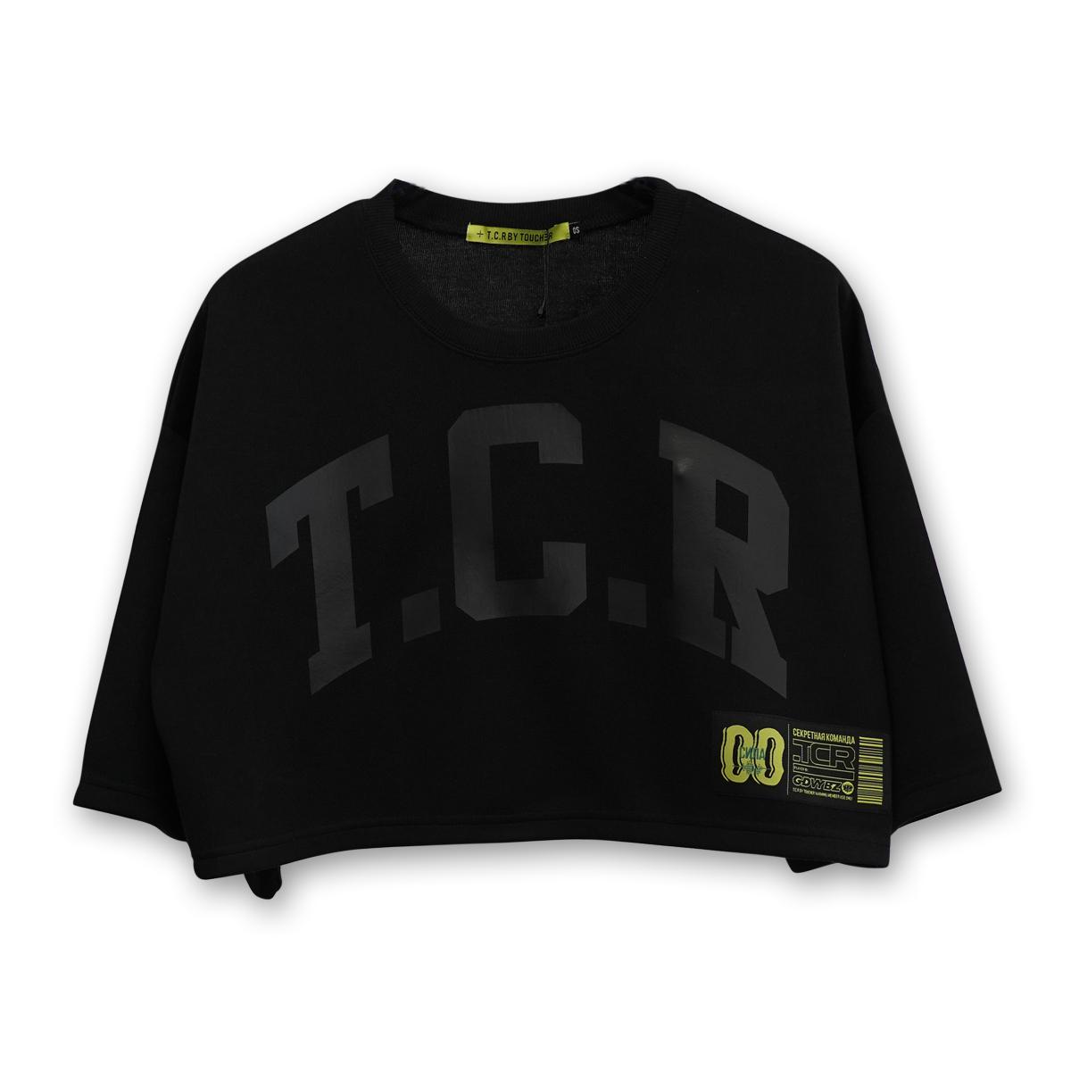 BIG TCR SHORT LENGTH TEE - BLACK