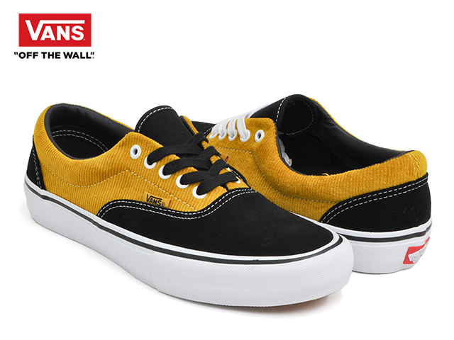 VANS|ERA PRO (CORDUROY) BLACK / YOLK YELLOW