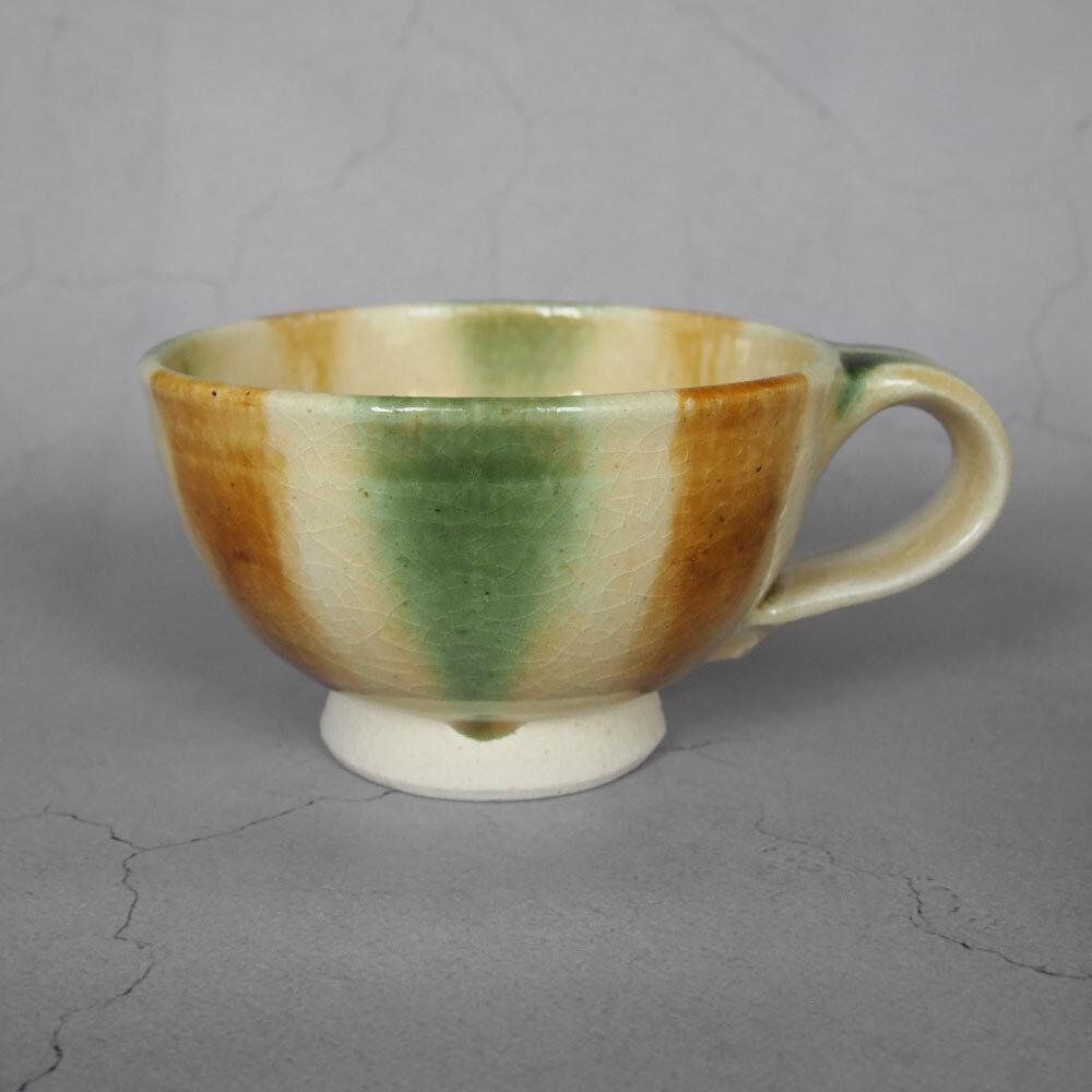 瀬戸本業窯 スープカップ 緑