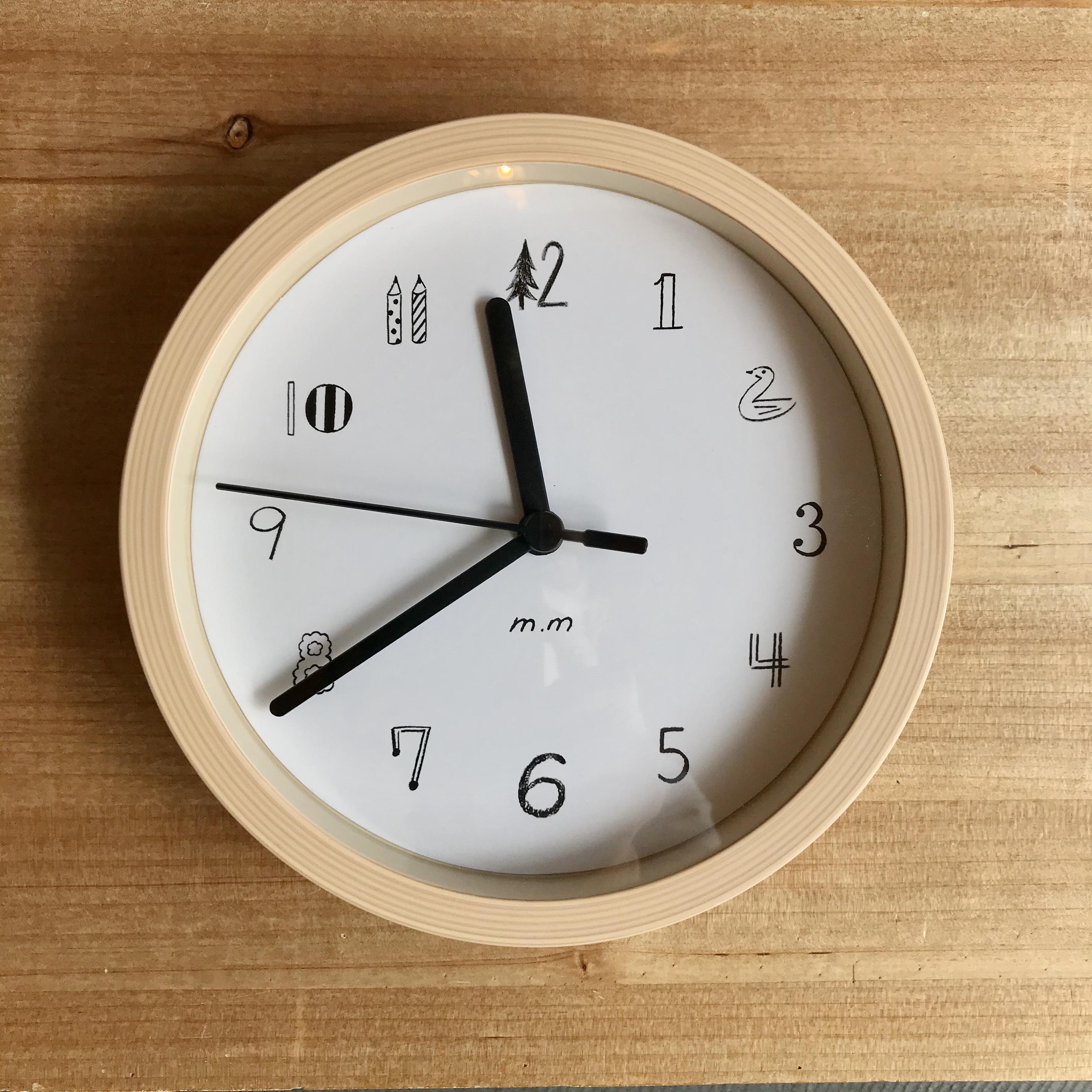 松尾ミユキ  Wall Clock S  Fake Wood