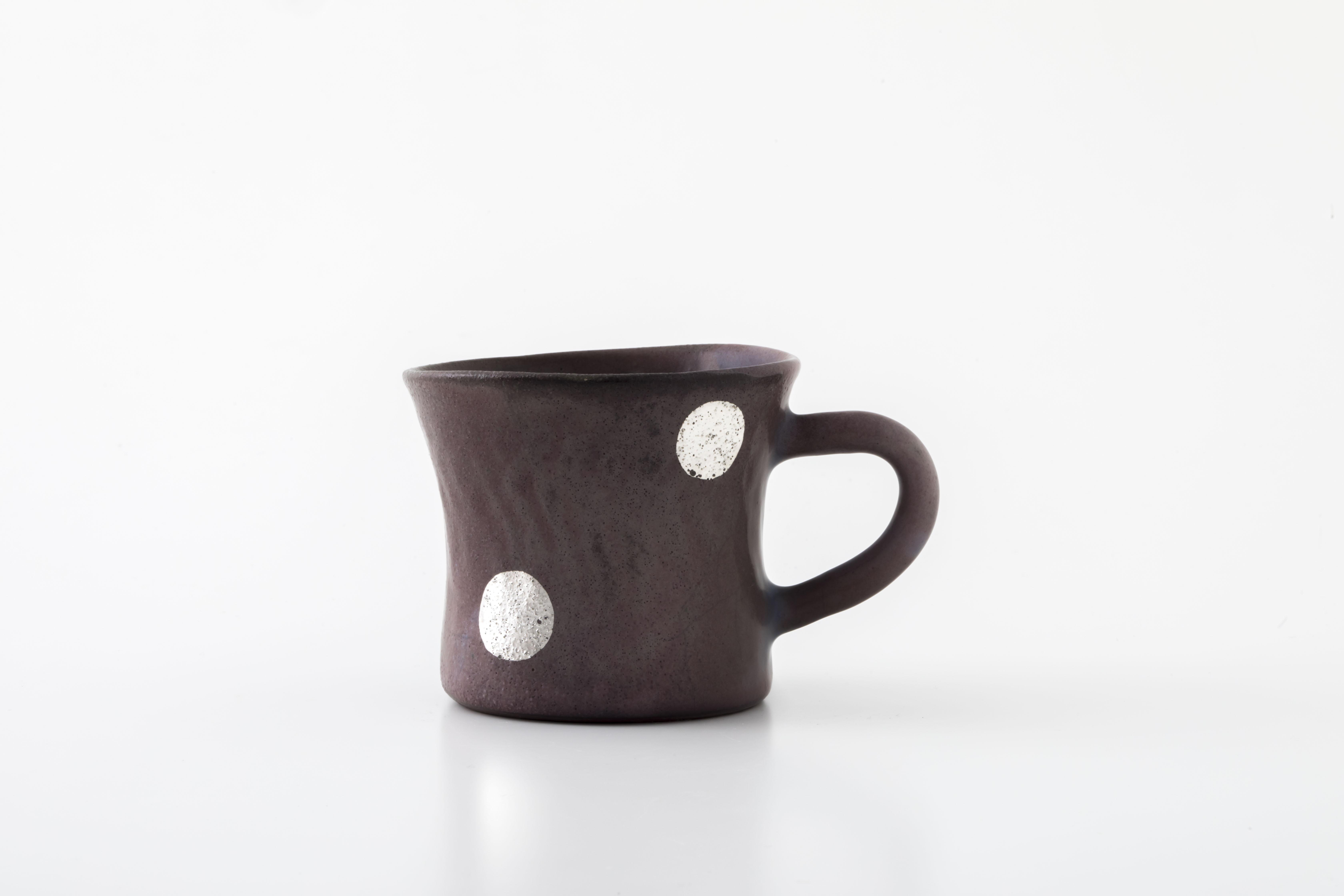 diner mug:銀ドット(06-5) / holk store × 中囿義光