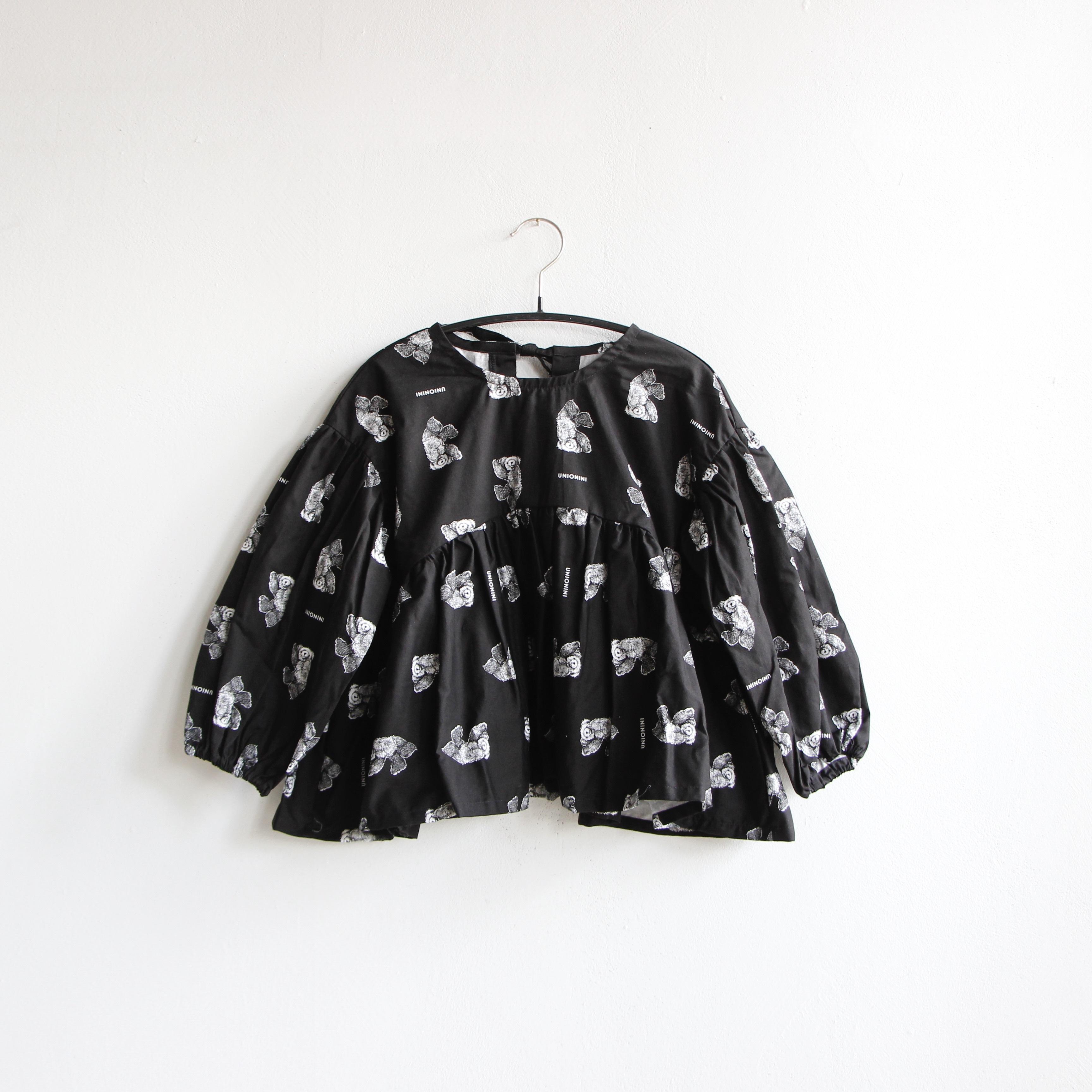 《UNIONINI 2020AW》teddybear blouse / black / 2-12Y