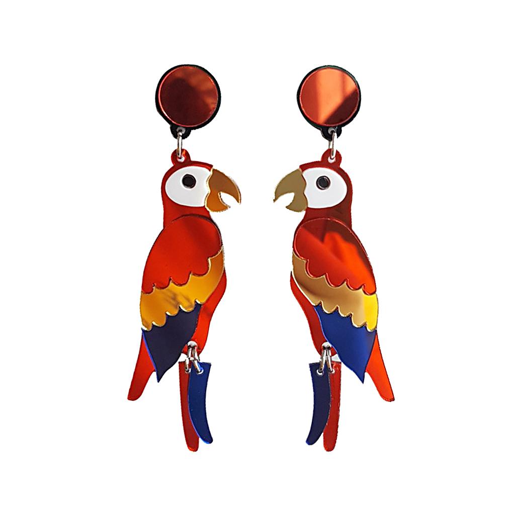IUHA 【ユニークシリーズ】インコピアス 耳飾り 鳥 可愛い 個性的  アクセサリー   iuha1991710007