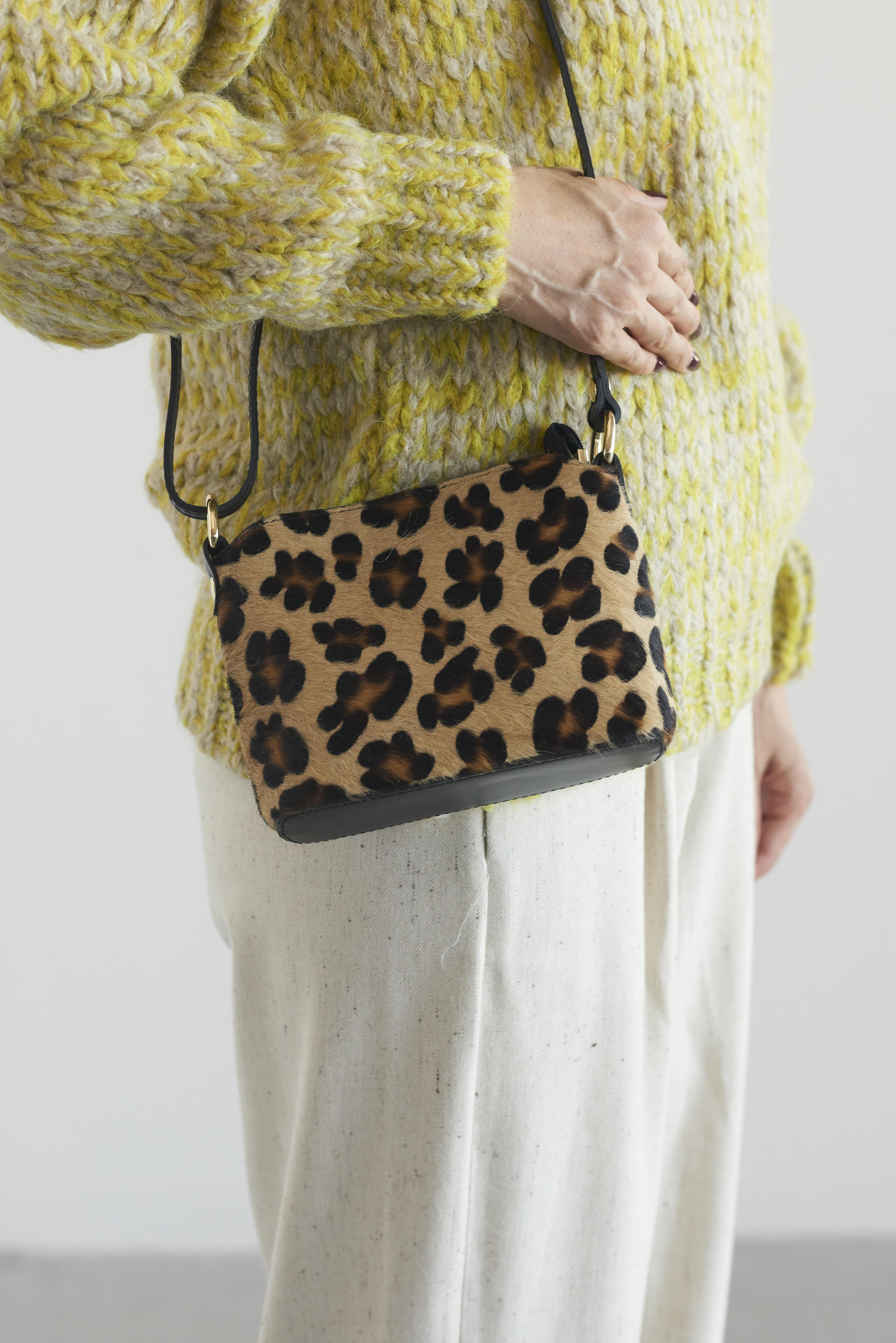Laboratorio Mariucci leopard shoulder bag