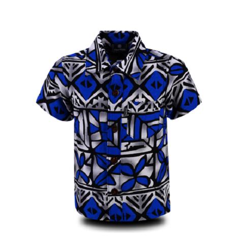 Aloha Shirt 2019 Blue × Gray【Size:L】