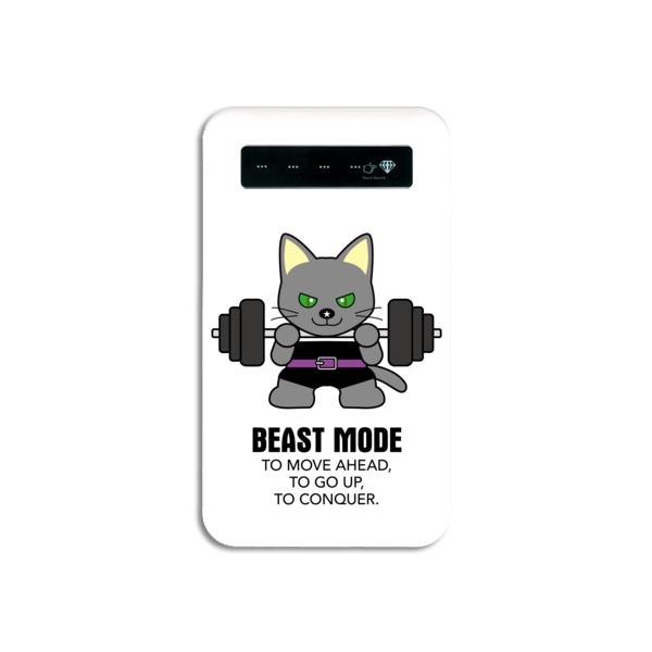 【BEASTMODE】 携帯充電器 バーベル ロシアンブルー