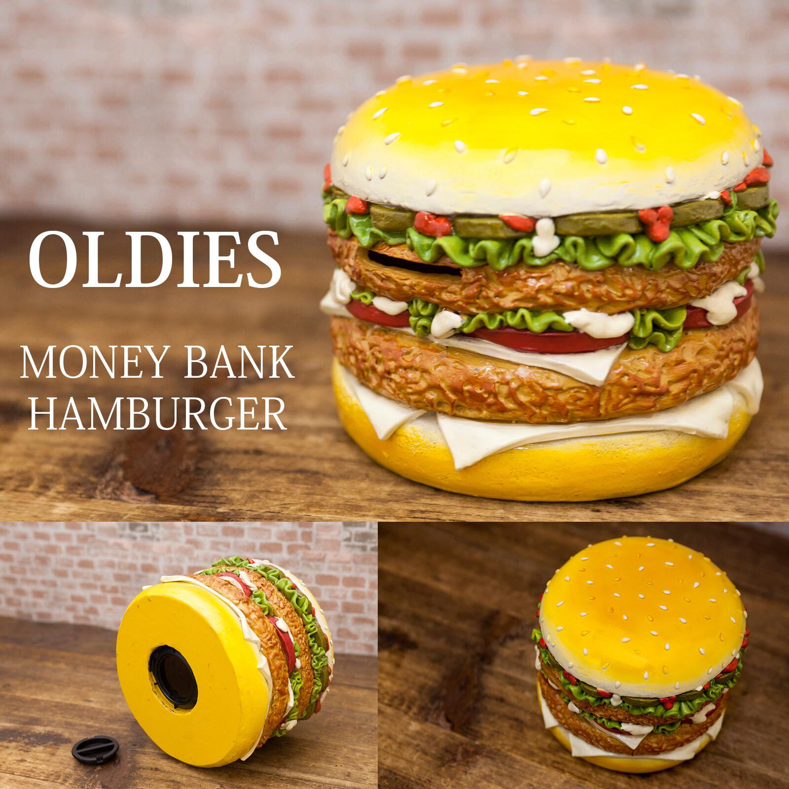 オールディーズ・レトロコインバンク 「ハンバーガー」貯金箱 置物