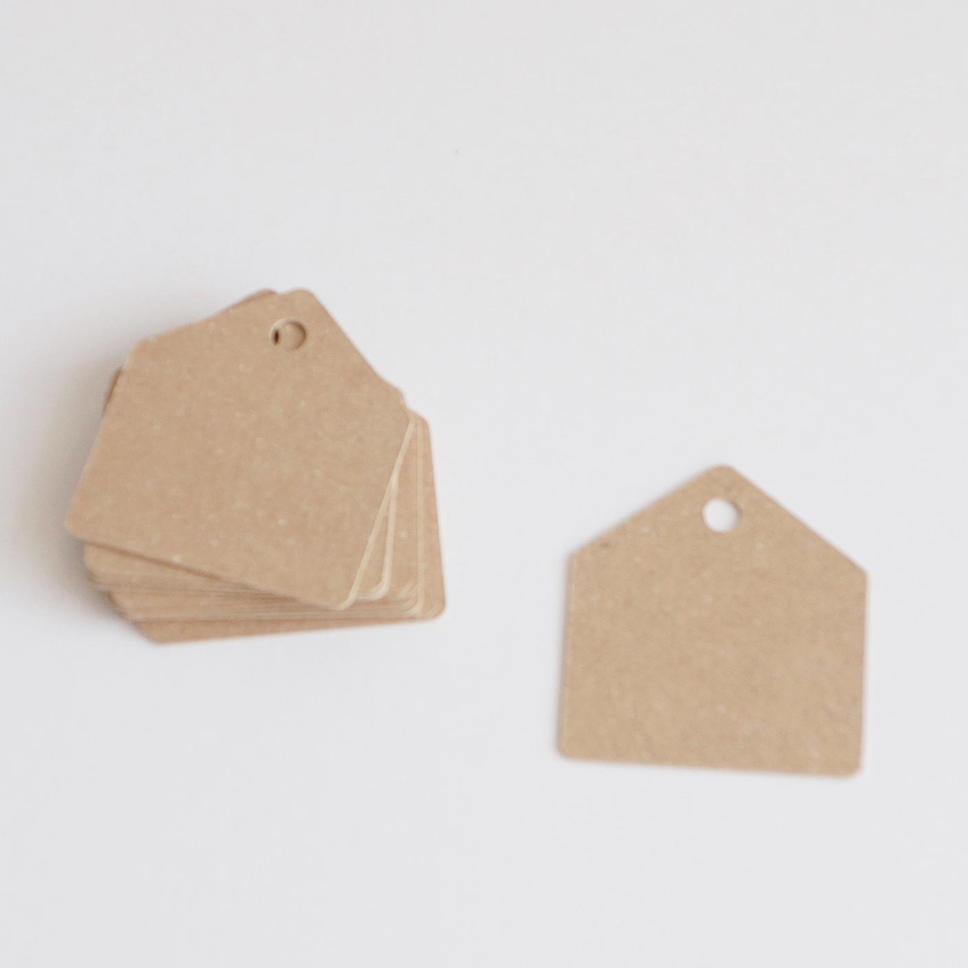 家型タグ クラフト(茶色) 10枚入