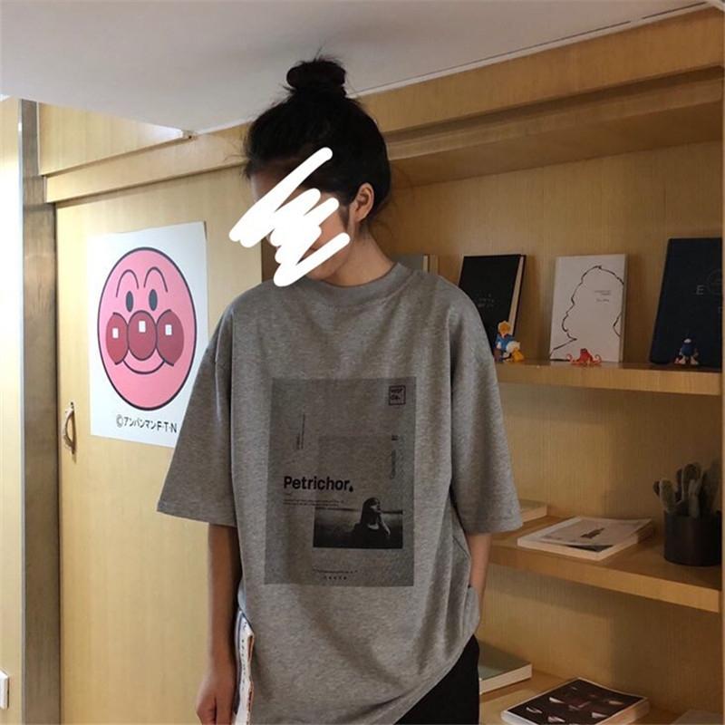 【送料無料】メンズライクコーデに♡ オーバーサイズ プリントT モノトーン