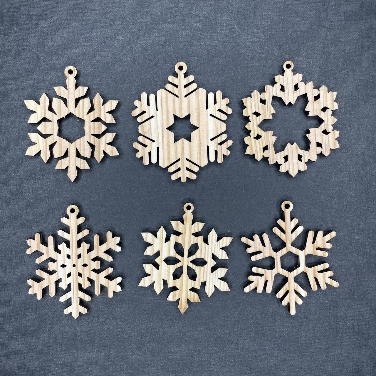 オーナメント 雪の結晶 小サイズ 6個セットA