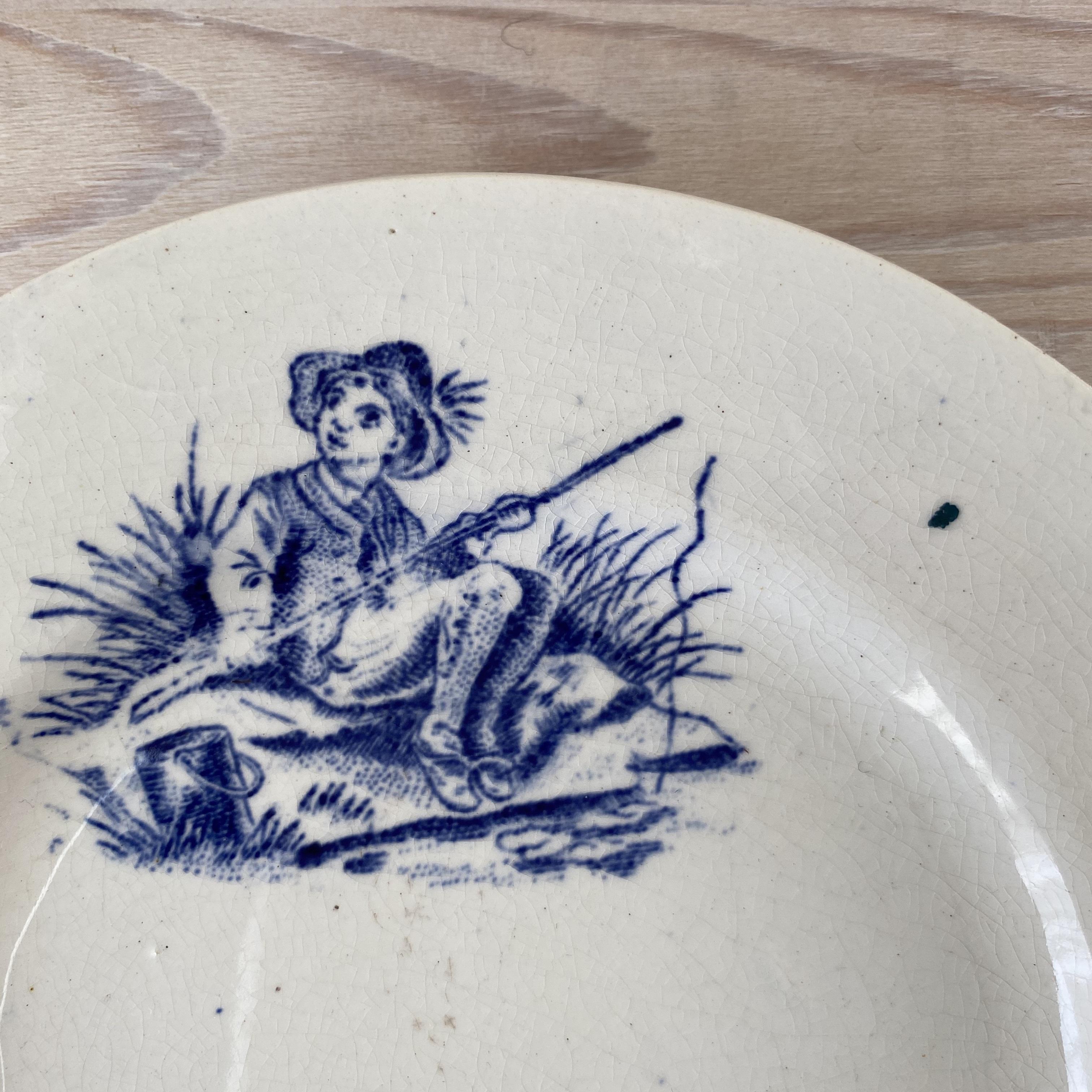 France ままごと・子供柄ディナープレート(釣りと子羊) / aa0060