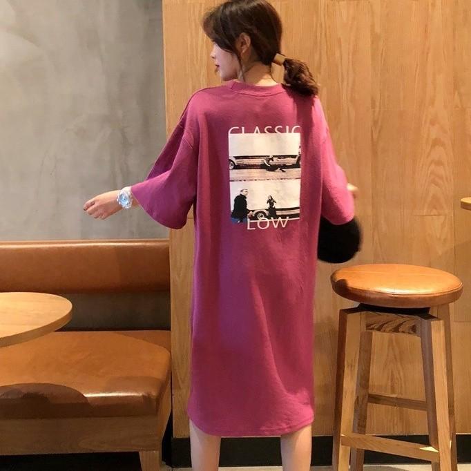 【dress】プリント膝丈レギュラーウエストストカジュアルワンピース26949751