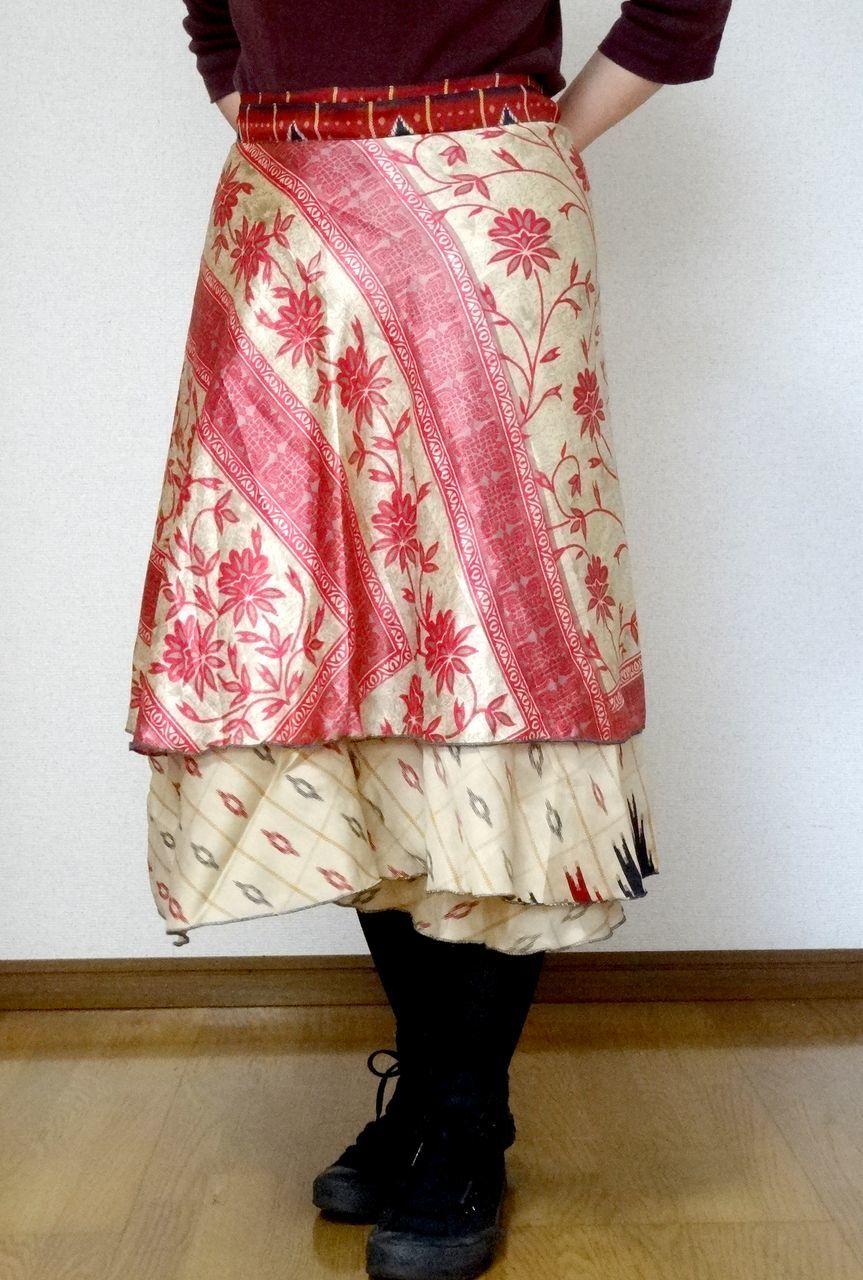 dss-014 シルクサリー巻きスカートショート