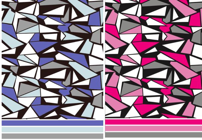 【セット割】ジオメトリック・モザイク2色セット