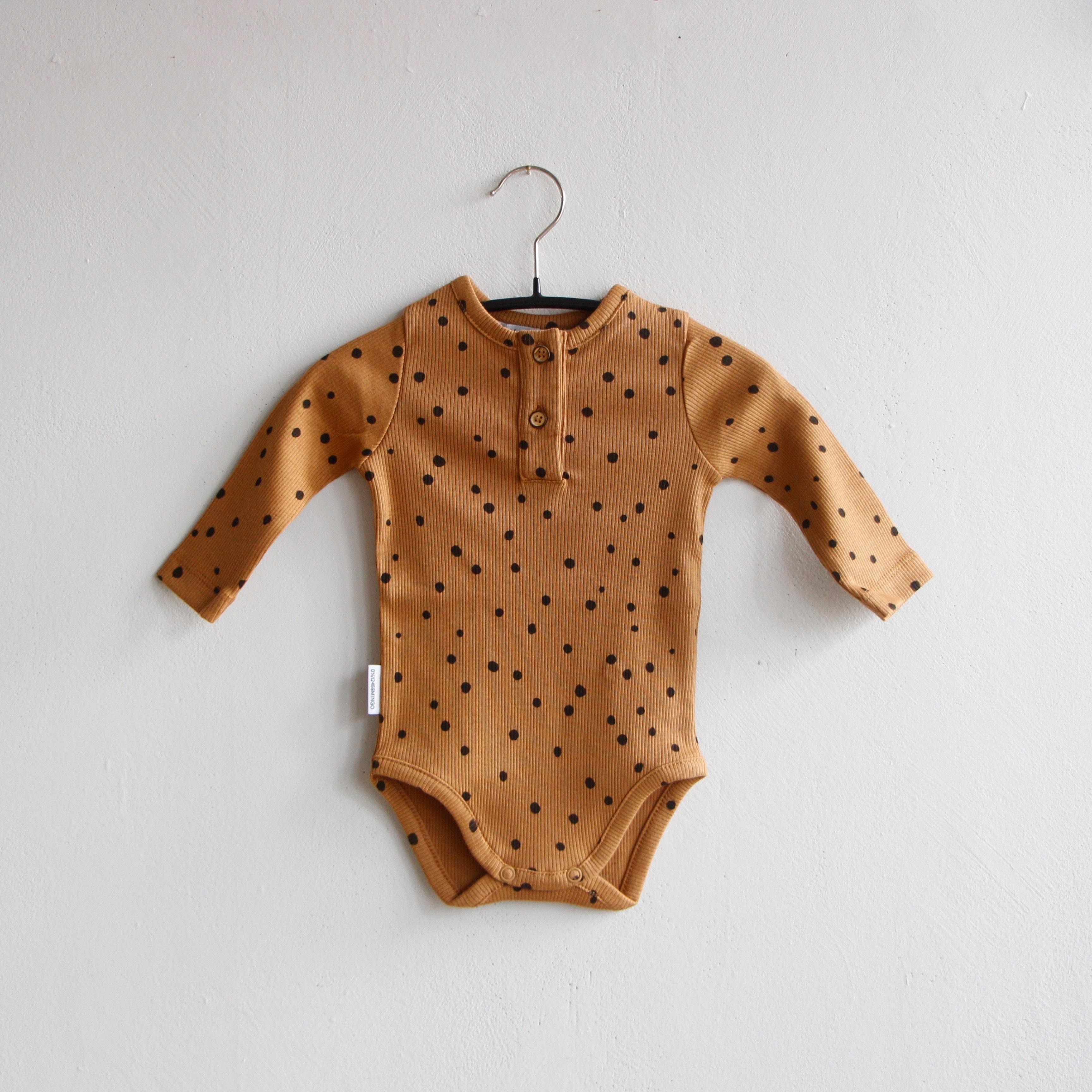 《MINGO. 2020AW》Bodysuit / Dots Caramel