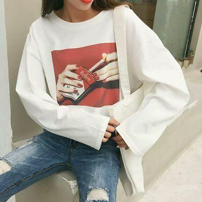 Tシャツ プリント ユニークTシャツ マルボロ ゆったり 韓国ファッション オルチャンファッション