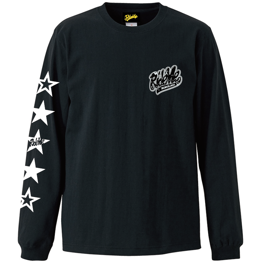 【RideMe | ライドミー】STAR LONG Tee(BLACK)