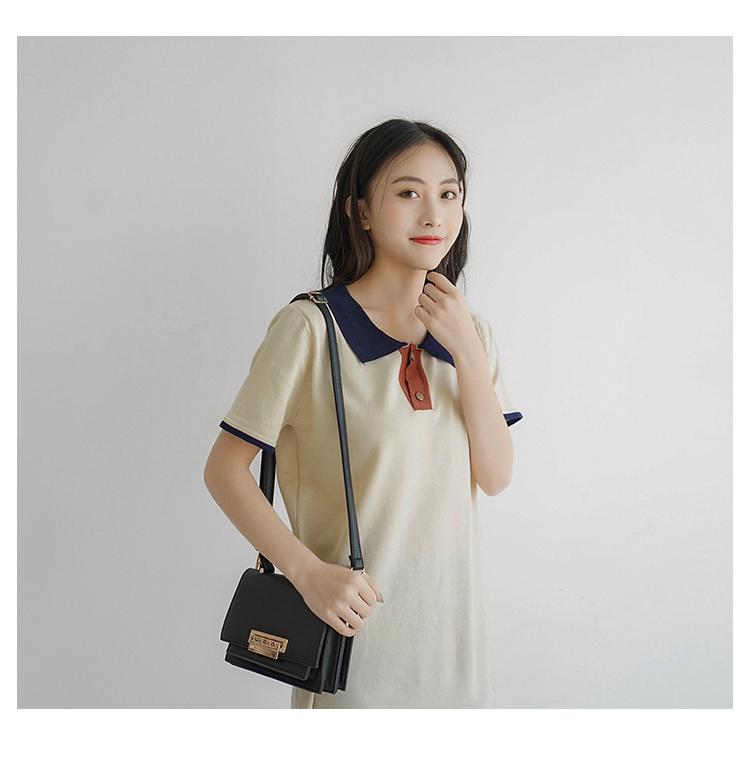 【送料無料】ロングポロシャツ ワンピース B19041101